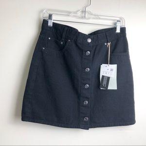 NWT Pull&Bear Black Denim Mini Skirt